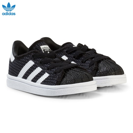 White Originals Trainers Adidas Infant And Black Superstar NOmwvn80