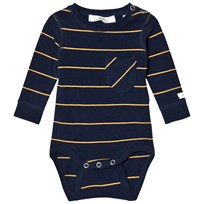 eBBe Kids Wemmert Baby Body Dark Navy/Gold Stripe Dark navy/gold stripe