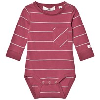 eBBe Kids Wemmert Bodystocking Midnight Rose/Grey Stripe Midnight rose/grey stripe