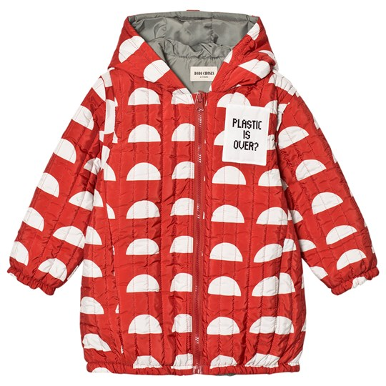 Bobo Choses Reversible Padded Anorak Crests Red