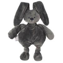 Nattou Lapidou Soft Toy Dark Grey Black