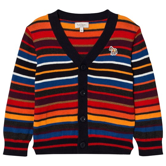 Paul Smith Junior Red and Orange Multi Stripe Cardigan 92