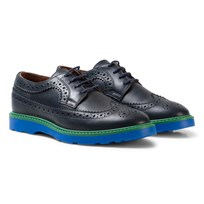 Paul Smith Junior Navy Leather Brogues with Contrast Detail 492