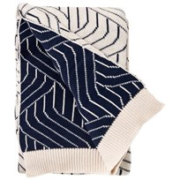 garbo&friends Strada Blue Cotton Blanket Multi