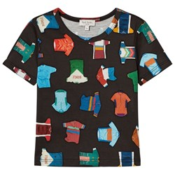 Paul Smith Junior Black Cycling Jersey All Over Print Tee