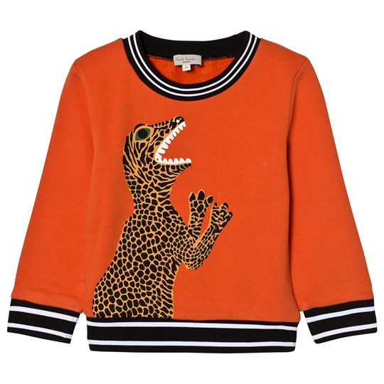 Paul Smith Junior Orange Marl Dinosaur Applique Sweatshirt (MINI ME) 761