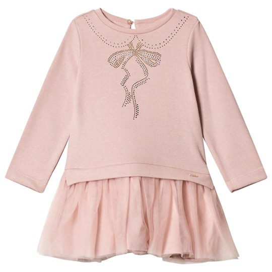 Mayoral Pale Pink Diamante Tee and Tulle Skirt Dress 66