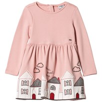 Mayoral Pink House Embroidered Dress 58