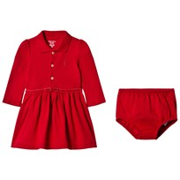 Ralph Lauren Red Long Sleeve Polo Dress 001