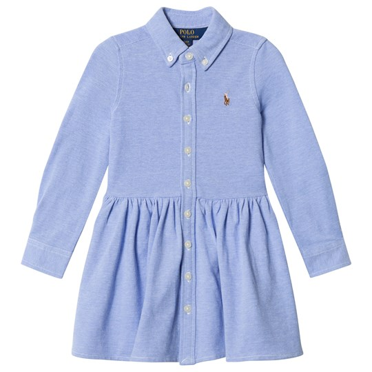 Ralph Lauren Blue Pique Polo Dress 001