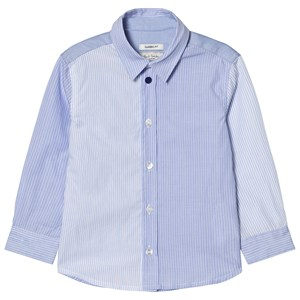 Image of Paul Smith Junior Blue Stripe Shirt with Multi Stripe Cuff 3 years (2793697259)