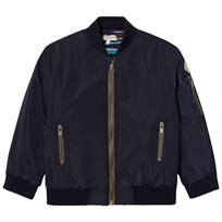 Paul Smith Junior Navy Bomber Jacket with Quilted Lining 492