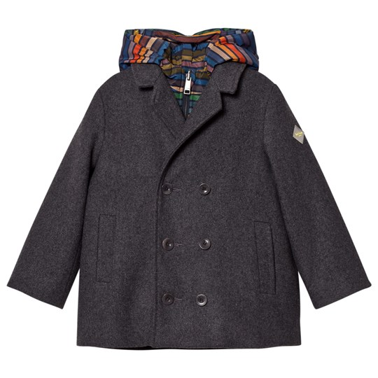 Paul Smith Junior Grey Wool and Stripe 2 in 1 Coat 24