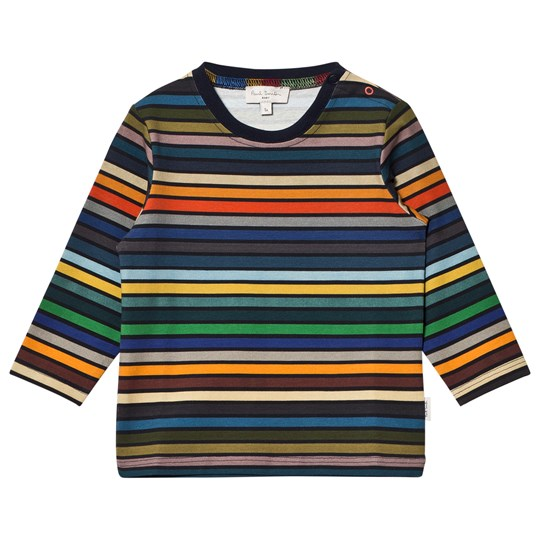 Paul Smith Junior Multi Stripe Long Sleeve Tee 92