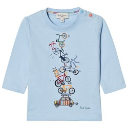Paul Smith Junior Pale Blue Bike and Mini Print Tee