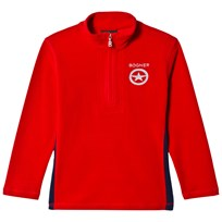 Bogner Red Eddie Branded Half Zip Micro Fleece Mid Layer 551