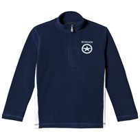 Bogner Navy Eddie Branded Half Zip Micro Fleece Mid Layer 417