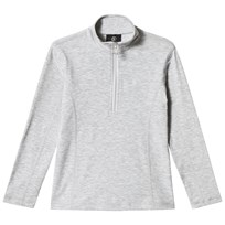 Bogner Grey Marl Lurex Half Zip Baselayer 010