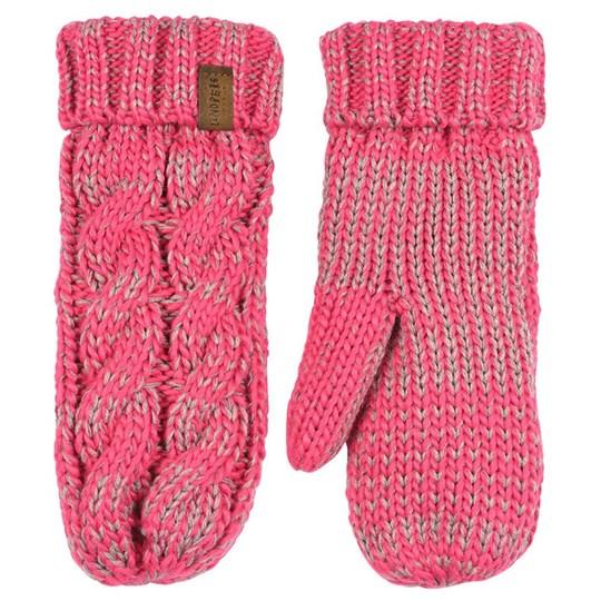 Lindberg Mittens Cerise and Grey Pink