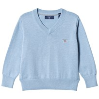 Gant Lake Blue V Neck Cotton Jumper 478