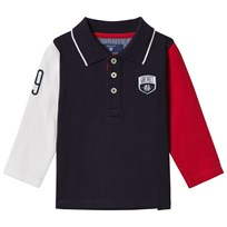 Gant Navy and Red Color Block Rugby Shirt 433