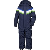 Didriksons Romme Kids Coverall  Navy Marinblå