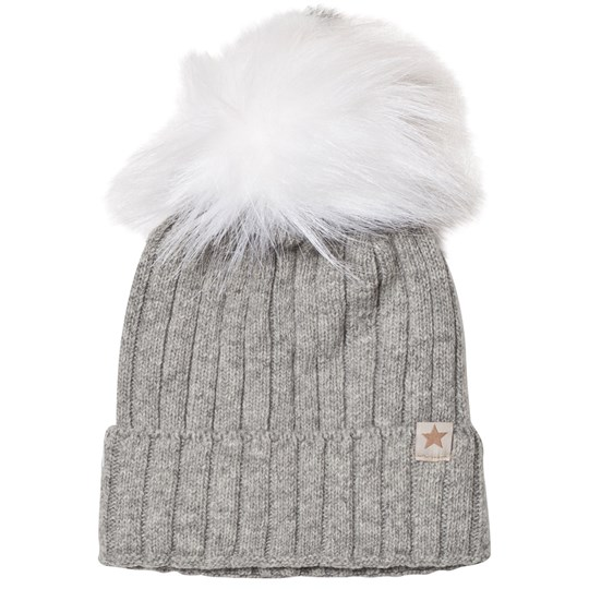 Huttelihut Knithut Fold Up Hat Light Grey L.grey/White