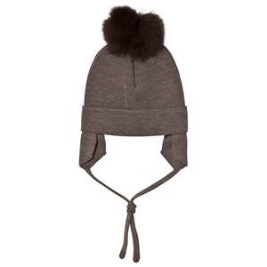 Image of Huttelihut Baby Hat with Ear Flaps Nougat/Brown 6-12 mdr (3059678821)