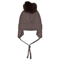 Huttelihut Baby Hat with Ear Flaps Nougat/Brown Nougat/Brown