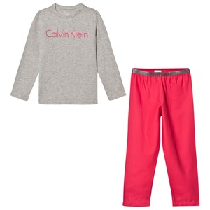 Image of Calvin Klein Grey and Coral Branded Pyjamas 8-10 years (2793696009)
