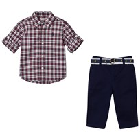 Ralph Lauren Red Multi Chino Set and Pant Set 001