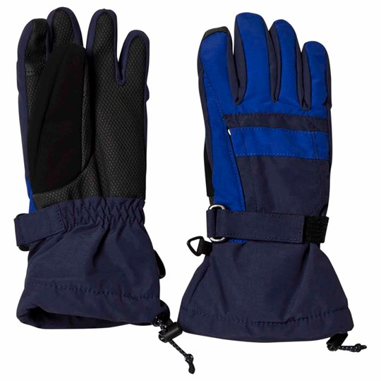 Lands' End Navy Squall Ski Gloves Regiment Navy 616