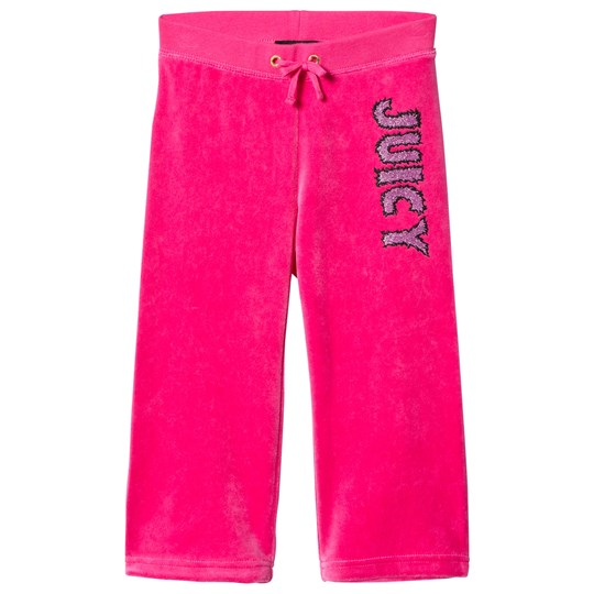 Juicy Couture Hot Pink Glitter Juicy Velour Trackpants 667 Dragonfruit