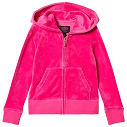 Juicy Couture Hot Pink Glitter Juicy Velour Hoody