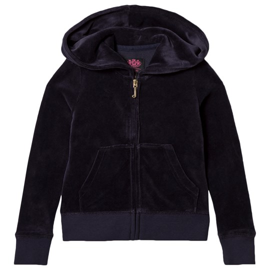 Juicy Couture Navy Glitter Juicy Velour Hoody 419 Regal