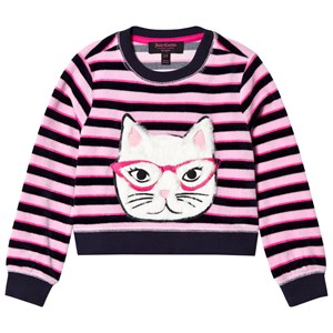 Image of Juicy Couture Pink and Navy Faux Fur Cat Face Jumper 2-3 years (2793699483)