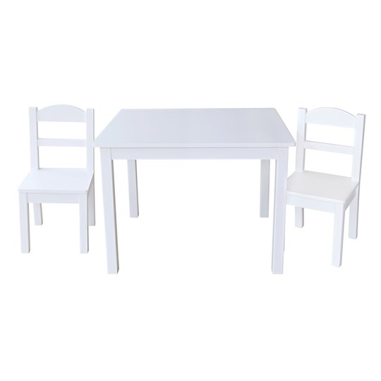 JOX Table and Two Chair Set White Multi