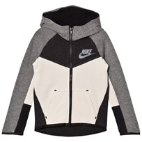 NIKE Light Bone Black Tech Fleece Full Zip Hoodie K40