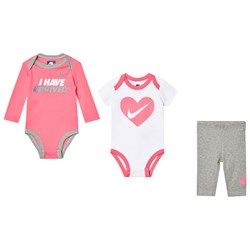 NIKE Pink and Grey Heather Bodysuit with Leggings