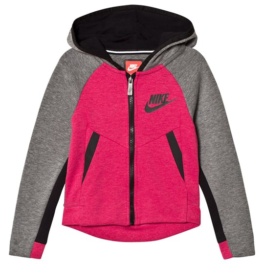 NIKE Tech Fleece Hoodie Grey/Rush Pink A5L