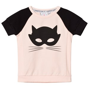 Image of Scamp & Dude Blush And Black Cat Mask Tee 1-2 years (2793697633)
