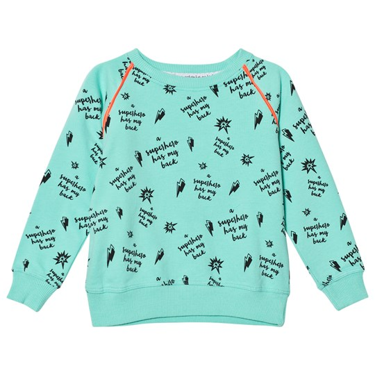 Scamp & Dude Green Slogan Print Sweatshirt Green