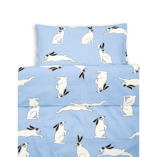 Mini Rodini Rabbit Bed Set Baby Light Blue Light Blue