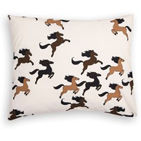 Mini Rodini Horse Pillowcase Off White White