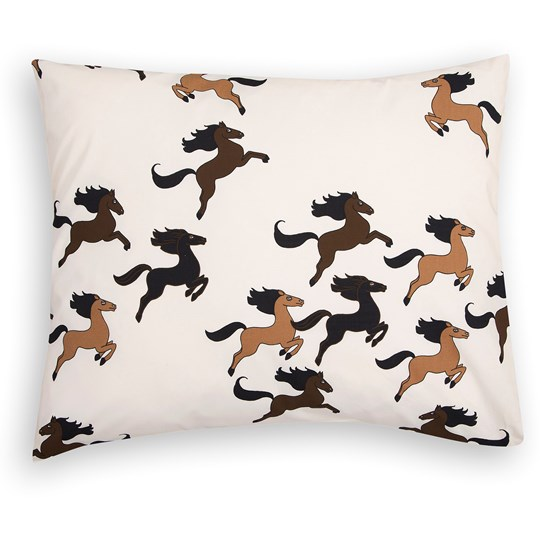 Mini Rodini Horse Pillowcase Off White 白色