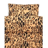 Mini Rodini Leopard Bed Set Junior/Adult Beige Beige
