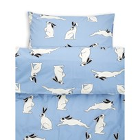 Mini Rodini Rabbit Bed Set Junior/Adult Light Blue Light Blue