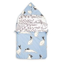 Mini Rodini Rabbit Sleeping Nest Light Blue Light Blue