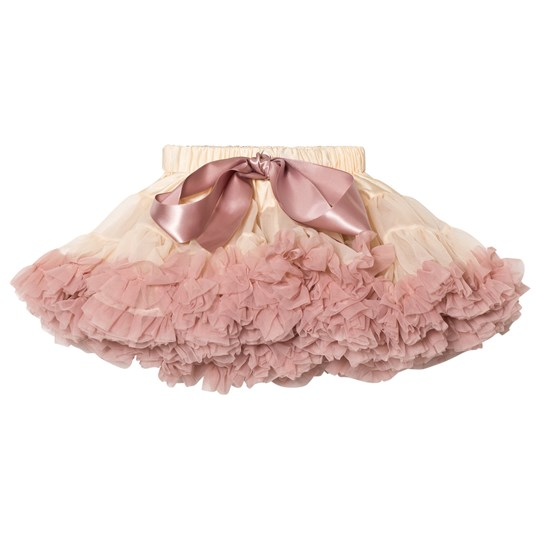 DOLLY by Le Petit Tom Dollywood Collection Chiffon Pettiskirt Cream/Dusty Pink cream/dusty pink
