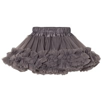 DOLLY by Le Petit Tom New Chiffon Frilly Skirt Dark Grey Dark grey